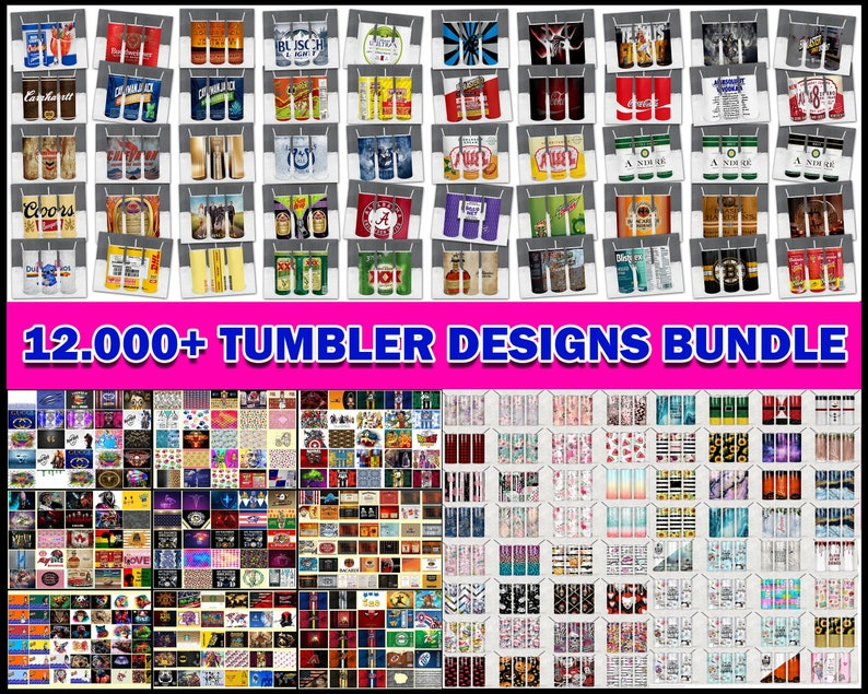 12000+ Huge Tumbler Bundle, Mega Tumbler Bundle, Tumbler Bundle