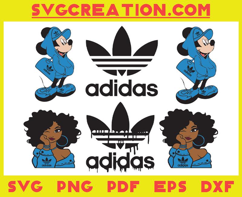 Fashion Logo Mickey Black Girl Svg Bundle 1, File For Cricut, For Silhouette, Cut File, Dxf, Png, Svg, Digital Download