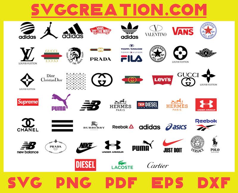 Bundle Famous Brand Logo Svg, File For Cricut, For Silhouette, Cut File, Dxf, Png, Svg, Digital Download (Copy)
