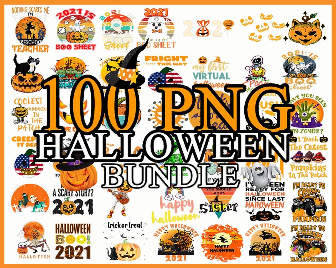 100 Halloween PNG Bundle, Halloween Bundle Download, Witch png