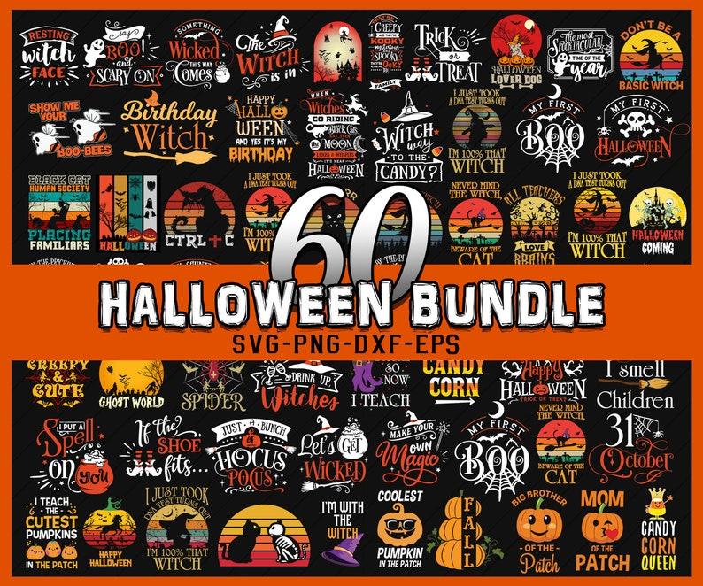 60 Halloween Bundle, Halloween Vector, Sarcastic Svg, Witch Svg