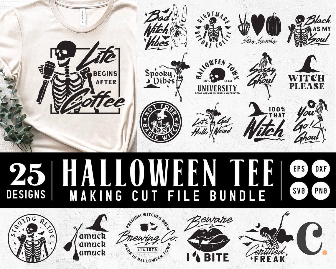 25+ Halloween Bundle, Halloween T-shirt SVG Cuttable File For Cricut