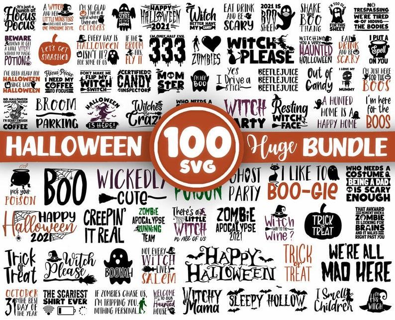 100 Halloween SVG Bundle, Halloween Svg Bundle, Halloween Vector