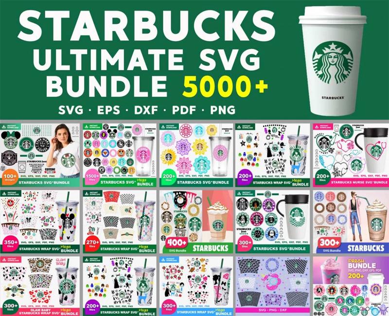 Starbuks Svg 5000+ Bundle, Starbuks Cricut, Starbuks Clipart