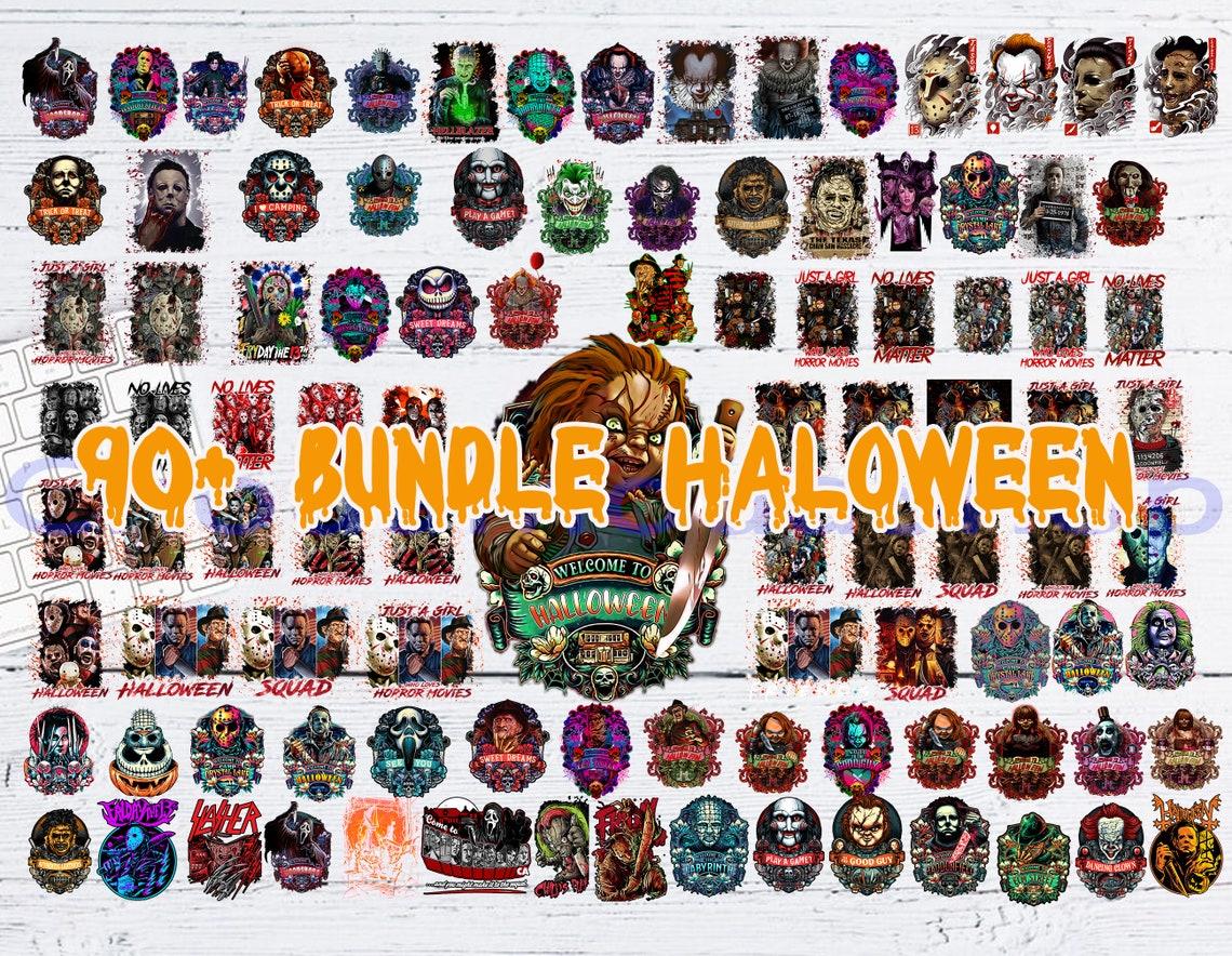 Horror Movies Characters PNG, 90+ Bundle Halloween