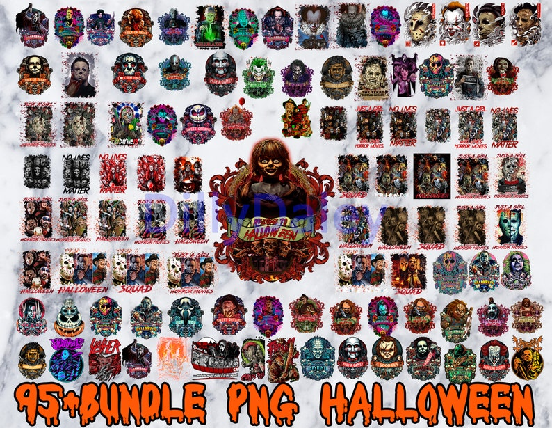 95+ Bundle Halloween Png, Horror Movies Characters PNG