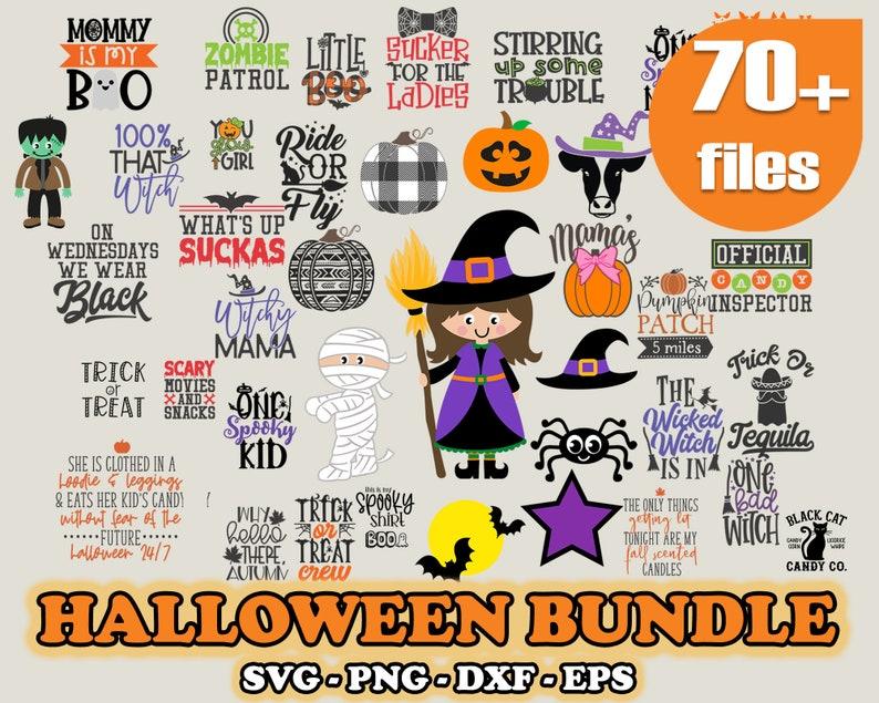 Svg Halloween Bundle, Halloween Svg Png Bundle, Halloween Vector