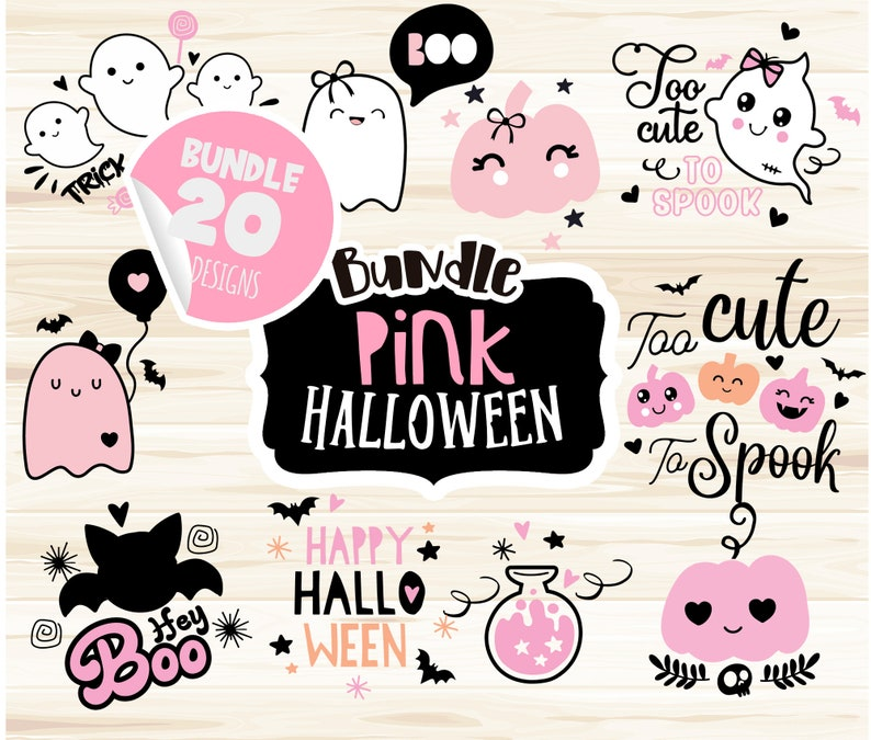 Halloween Pink Svg, Bundle Halloween Svg, Halloween Girl svg