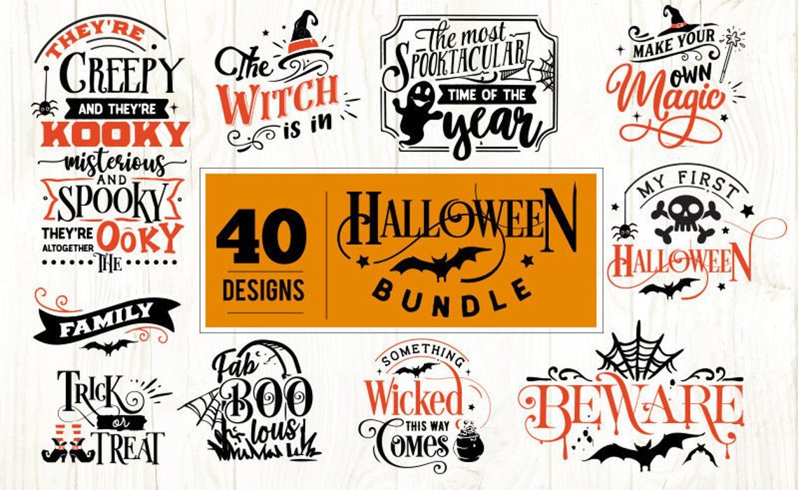 40 Halloween Svg, Cut Files Bundle, Halloween, Bundle Pack
