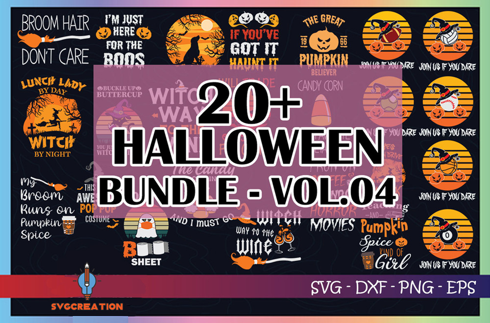 20+ Halloween Bundle Svg, Halloween Vector, Sarcastic Svg