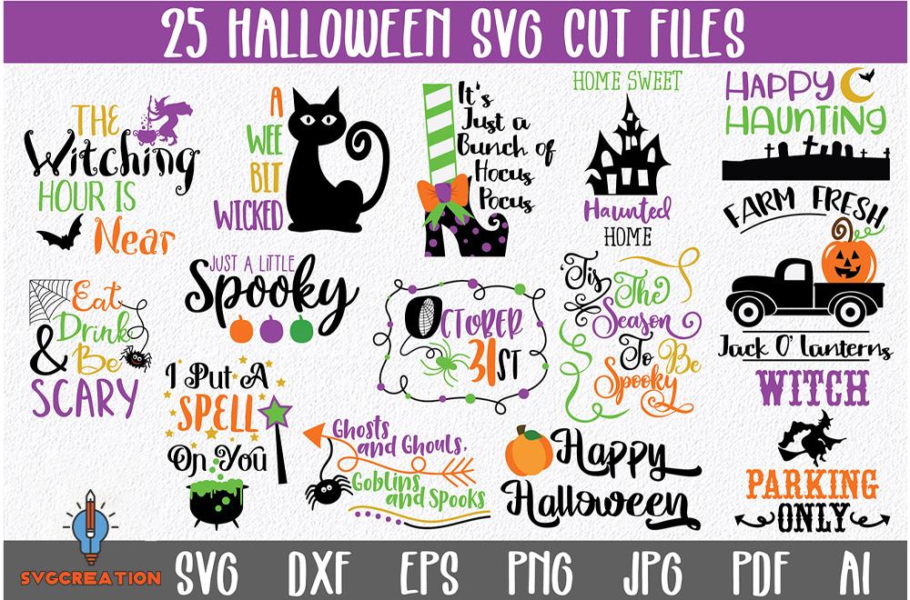 25+ Halloween SVG Bundle, Halloween Vector, Witch Svg